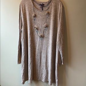 Gap Size 2X Gray & Gold T-shirt Swing Dress